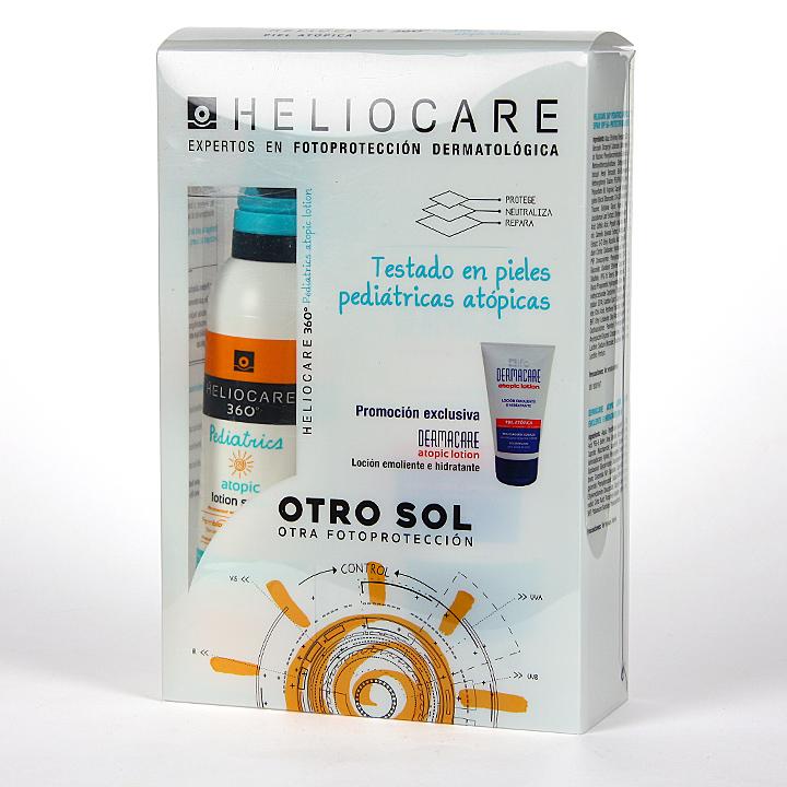 Farmacia Jiménez | Heliocare 360º Pediatrics Atópica y Sensible Loción + Dermacare Loción Pack