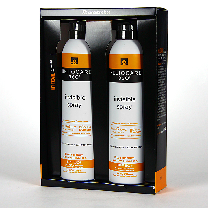 Farmacia Jiménez | Heliocare 360º Spray Invisible SPF 50 Pack Duplo