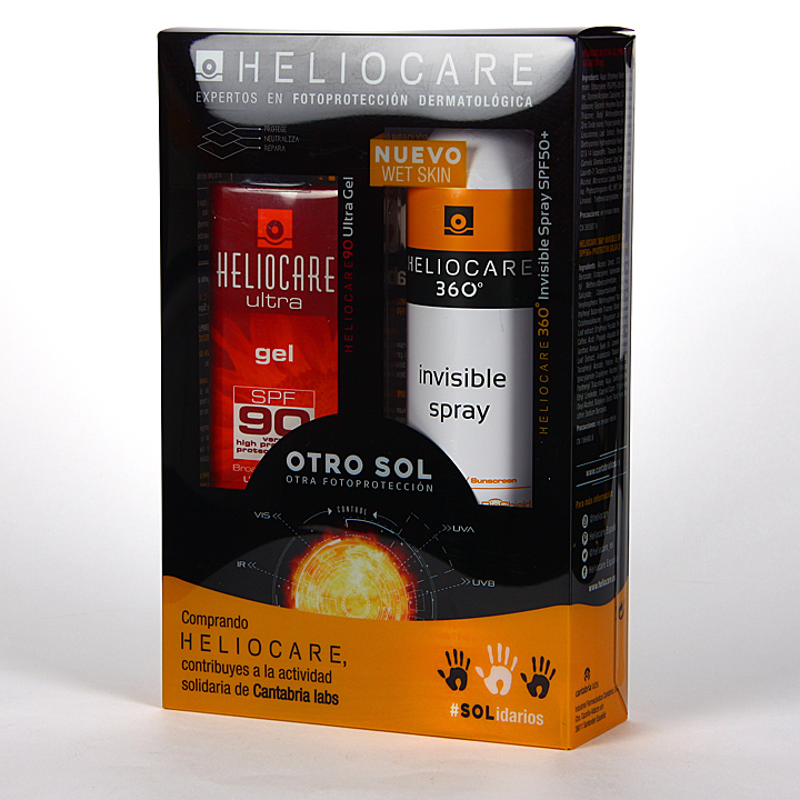 Farmacia Jiménez | Heliocare 360º Spray Invisible SPF 50 + Ultra Gel SPF 90 Pack Duplo