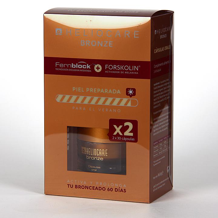 Farmacia Jiménez | Heliocare Bronze Pack 2 x 30 cápsulas