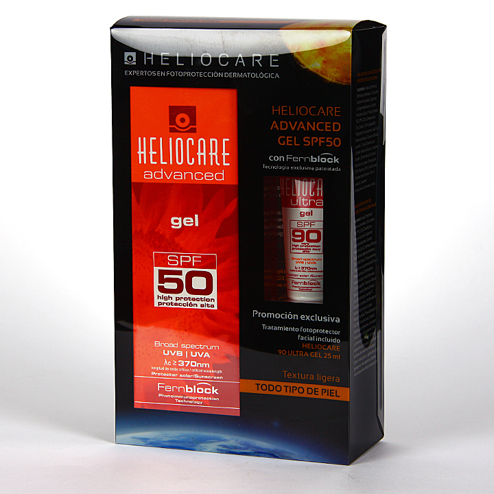 Farmacia Jiménez | Heliocare SPF 50 Gel 200 ml + Ultra Gel SPF90 25 ml Pack