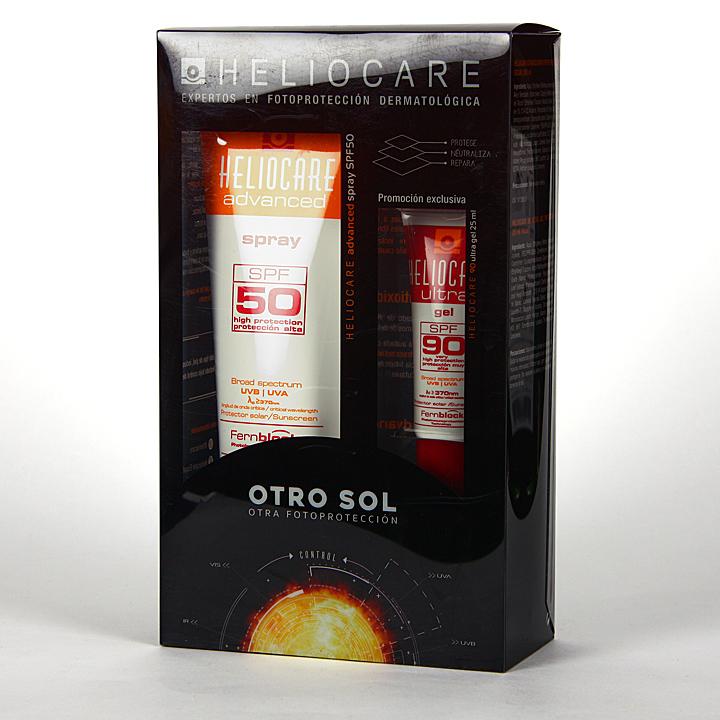 Farmacia Jiménez | Heliocare SPF 50 Spray 200 ml + Heliocare Gel SPF90 25 ml Pack Regalo