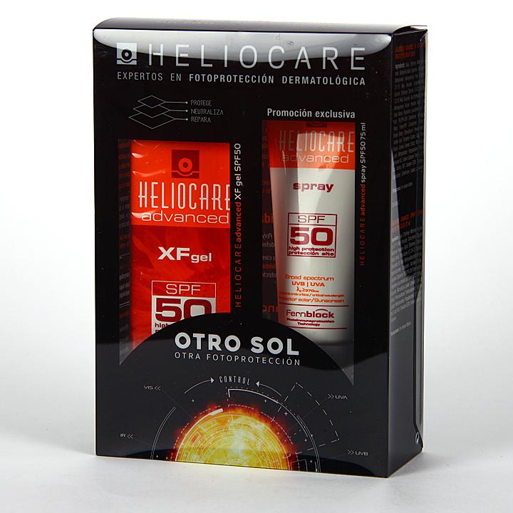 Farmacia Jiménez   Heliocare SPF 50 XF Gel 50 ml + Spray SPF 50 75 ml Pack