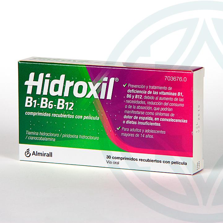 Farmacia Jiménez | Hidroxil B1-B6-B12 30 comprimidos