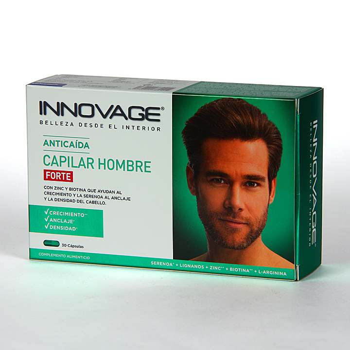 Farmacia Jiménez | Innovage Anticaída Capilar Hombre Forte 30 cápsulas