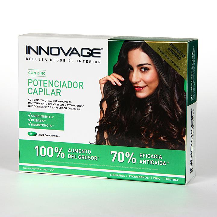 Farmacia Jiménez | Innovage Potenciador Capilar duplo ahorro 60 comprimidos