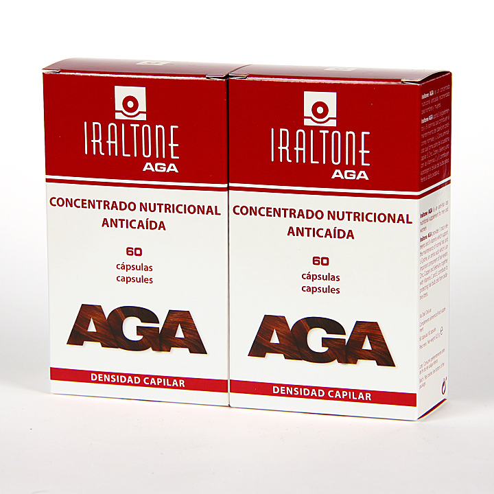 Farmacia Jiménez | Iraltone AGA anticaída Pack Duplo 60+60 cápsulas