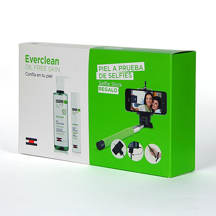Farmacia Jiménez | Isdin Everclean Gel purificante + gel crema ultramatificante + Palo selfie Pack