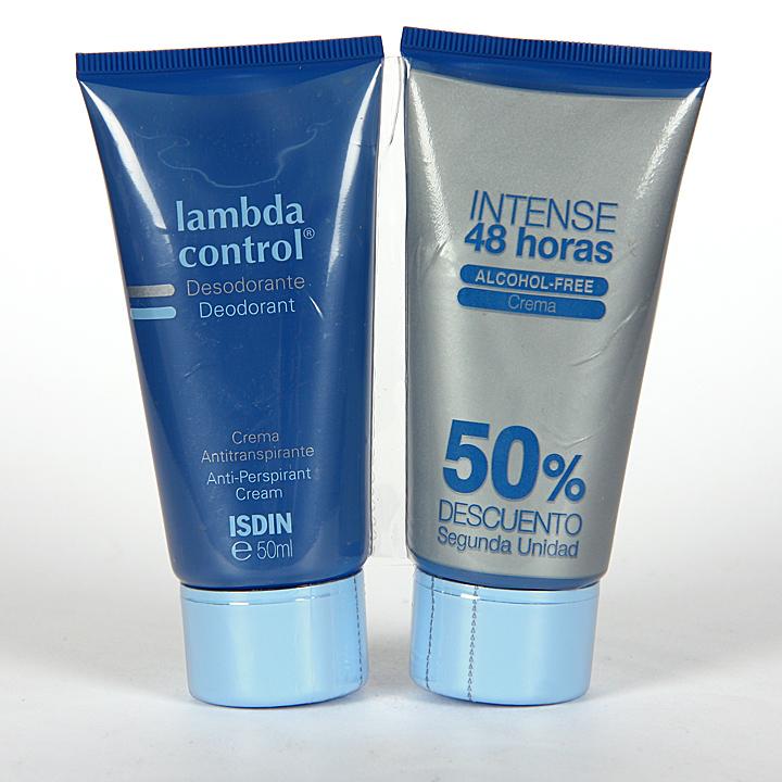 Farmacia Jiménez | Isdin Lambda Control Desodorante Antitranspirante crema 50 ml Duplo