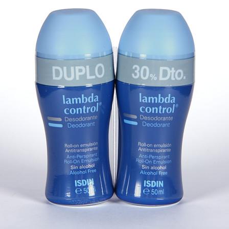 Farmacia Jiménez | Isdin Lambda Control Desodorante Antitranspirante sin alcohol roll-on 50 ml duplo