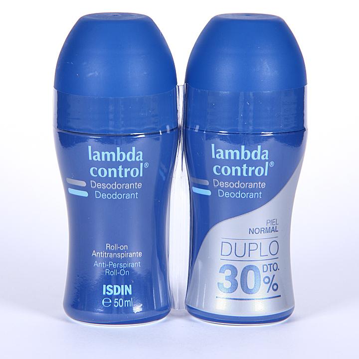 Farmacia Jiménez | Isdin Lambda Control Desodorante roll-on Antitranspirante 50ml Duplo