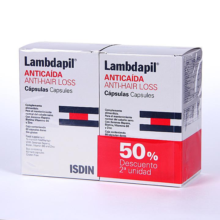 Farmacia Jiménez | Isdin Lambdapil Anticaída 60 cápsulas Promoción Duplo