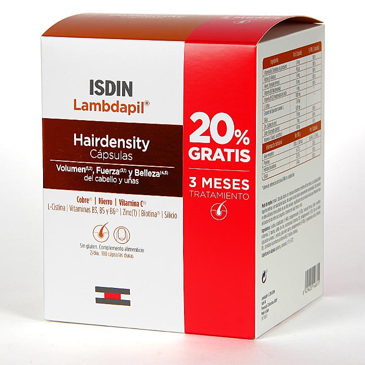 Farmacia Jiménez | Isdin Lambdapil Hairdensity 180 cápsulas