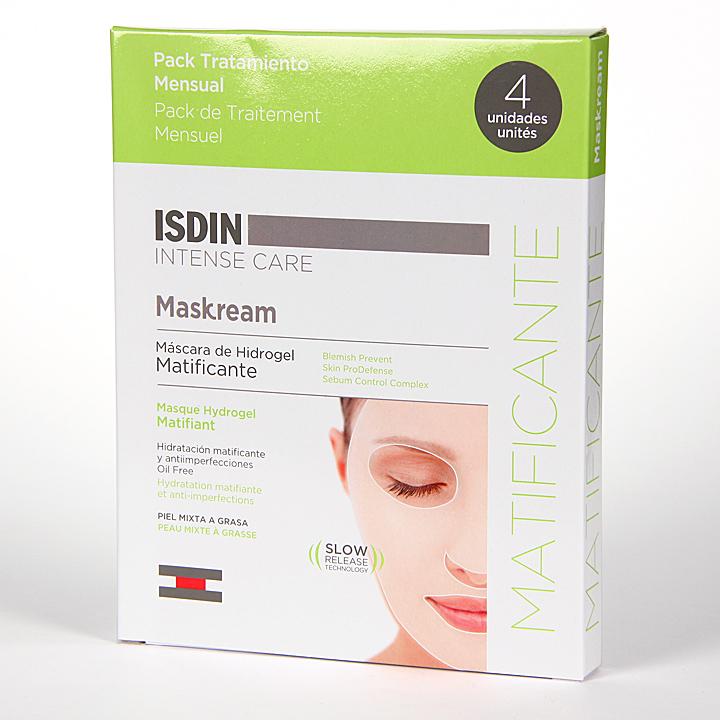 Farmacia Jiménez | Isdin Maskream Máscara de Hidrogel Matificante 4 unidades