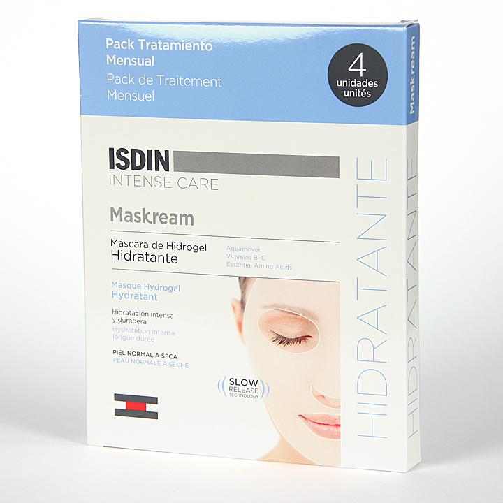 Farmacia Jiménez | Isdin Maskream Máscara de Hidrogel Hidratante 4 unidades