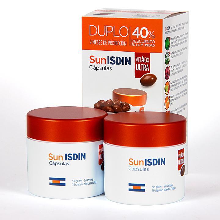 Farmacia Jiménez | Isdin SunIsdin VitaOx Ultra10 60 cápsulas Pack Duplo Ahorro