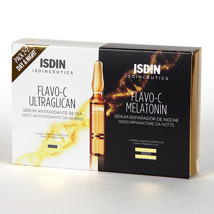 Farmacia Jiménez | Isdinceutics Flavo-C Ultraglican + Melatonin 2+2 Ampollas
