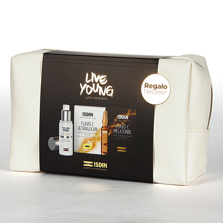 Farmacia Jiménez | Isdinceutics Pack Photoaging Live Young Neceser