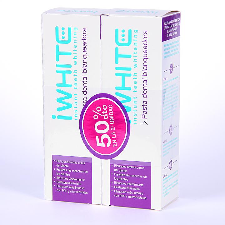 Farmacia Jiménez | Iwhite Instant Pasta Dental Blanqueadora 75 ml Duplo