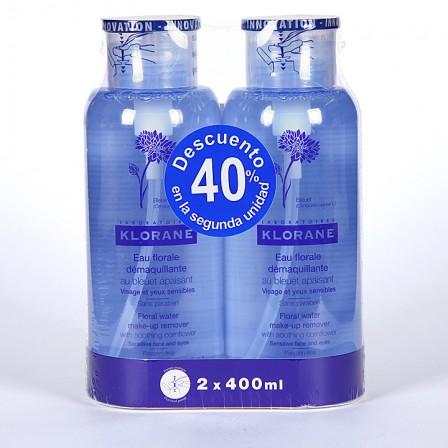 Farmacia Jiménez | Klorane Agua Desmaquillante calmante 400 ml Duplo