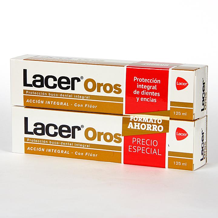 Farmacia Jiménez | Lacer Oros pasta dentífrica 125 ml Pack Duplo