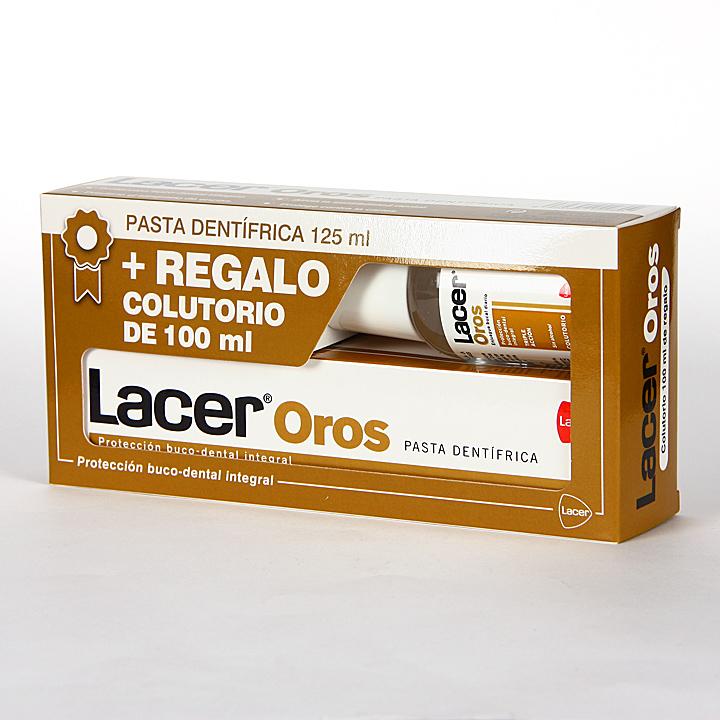 Farmacia Jiménez | Lacer Oros pasta dentífrica 125 ml + colutorio 100 ml gratis