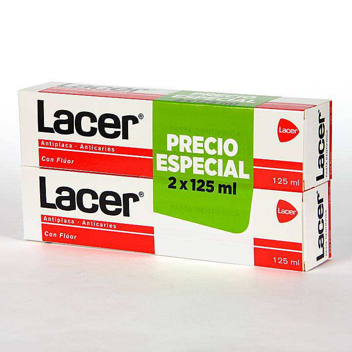 Farmacia Jiménez | Lacer pasta dentífrica anticaries Duplo 125 ml + 125 ml