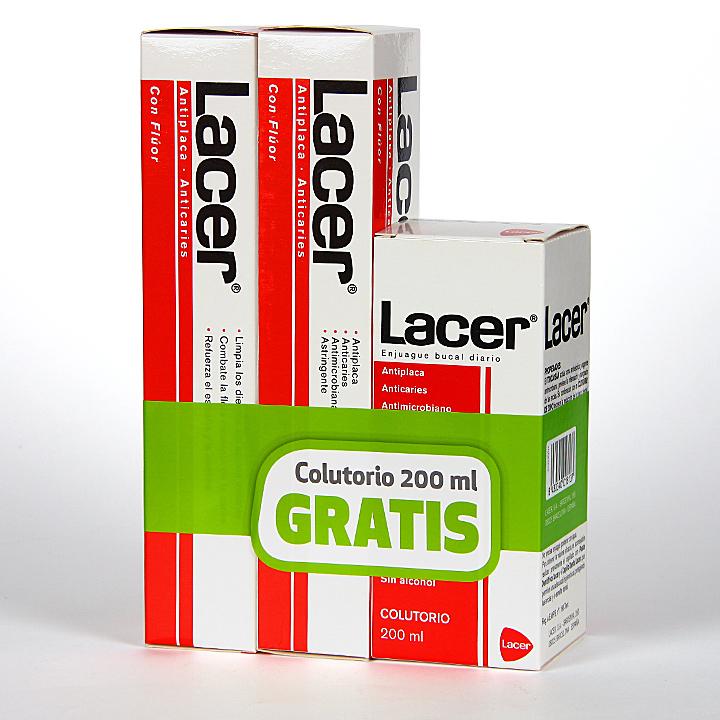 Farmacia Jiménez | Lacer pasta dentífrica anticaries Duplo + enjuague gratis
