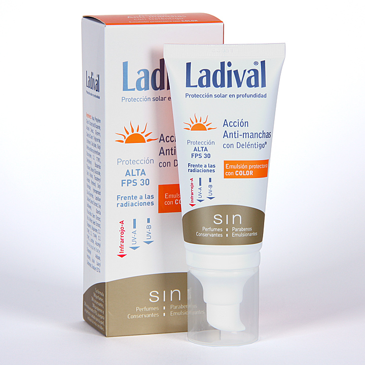 Farmacia Jiménez | Ladival Acción Anti-manchas con Deléntigo con Color SPF 30 50 ml