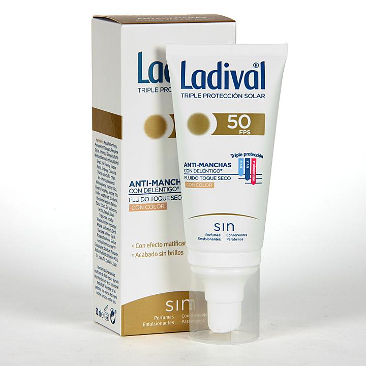 Farmacia Jiménez | Ladival Acción Anti-manchas con Deléntigo con Color SPF 50+ 50 ml