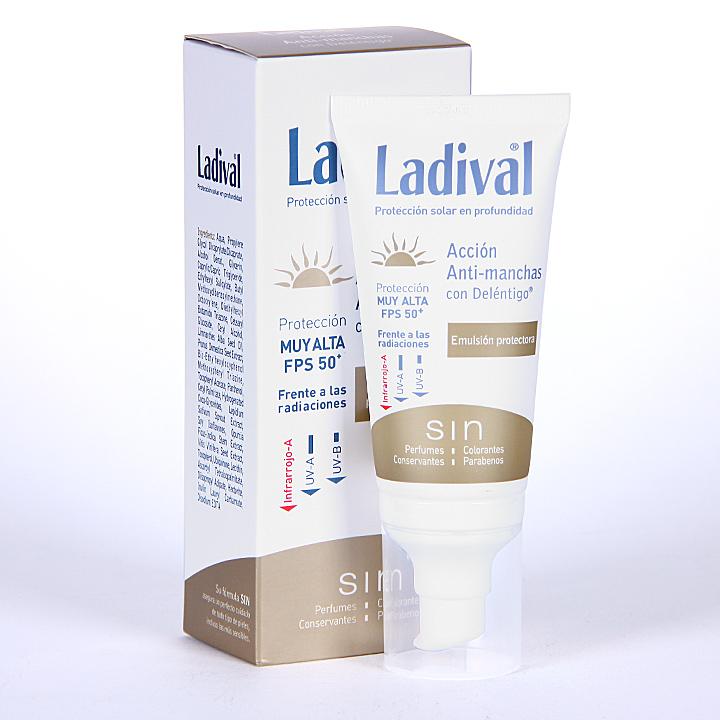 Farmacia Jiménez | Ladival Acción Anti-manchas con Deléntigo SPF 50+ 50 ml