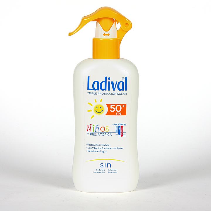 Farmacia Jiménez | Ladival Spray Niños y pieles atópicas SPF 50+ 200 ml