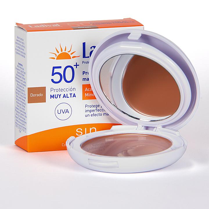 Farmacia Jiménez | Ladival Maquillaje Compacto FPS 50+ Dorado