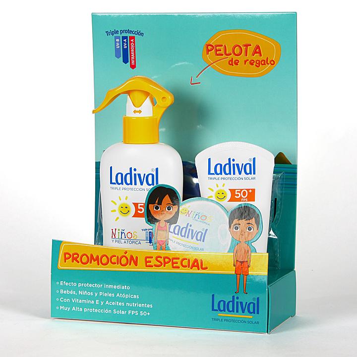 Farmacia Jiménez | Ladival Niños y Pieles Atópicas Spray Corporal + Leche Facial Duplo