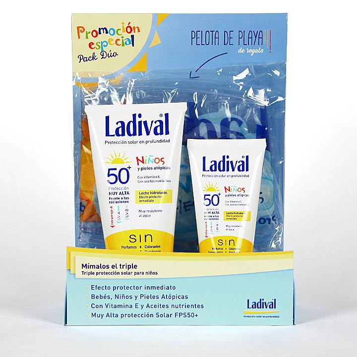 Farmacia Jiménez | Ladival Niños y pieles atópicas SPF 50+ Pack Duo 75 + 150 ml