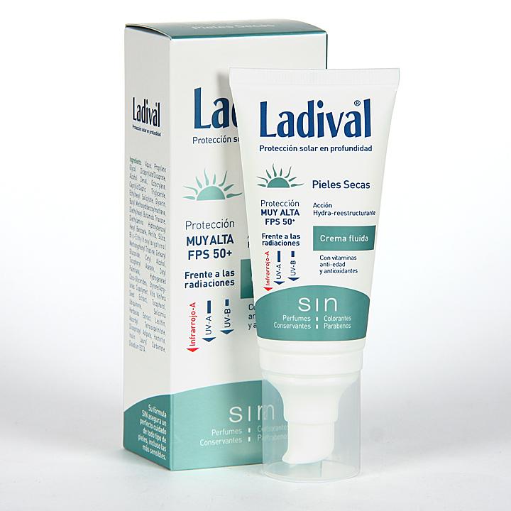 Farmacia Jiménez | Ladival Pieles Secas Crema fluida SPF 50 50 ml