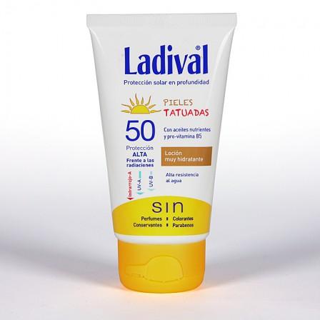 Farmacia Jiménez | Ladival Pieles Tatuadas SPF 50 75 ml