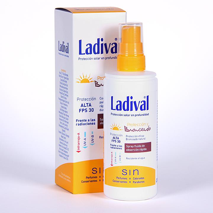 Farmacia Jiménez | Ladival Protección y Bronceado Spray fluido SPF 30  150 ml