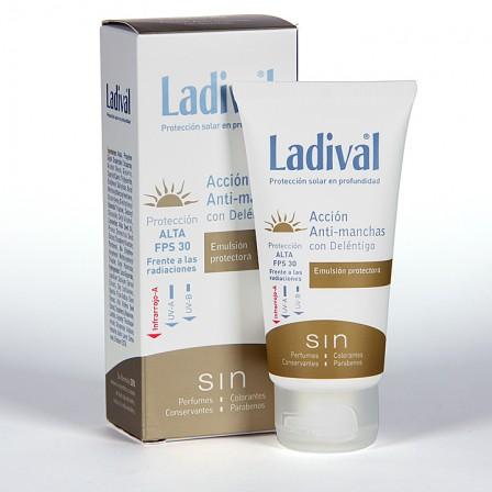 Farmacia Jiménez | Ladival Acción Anti-manchas con Deléntigo SPF 30 50 ml