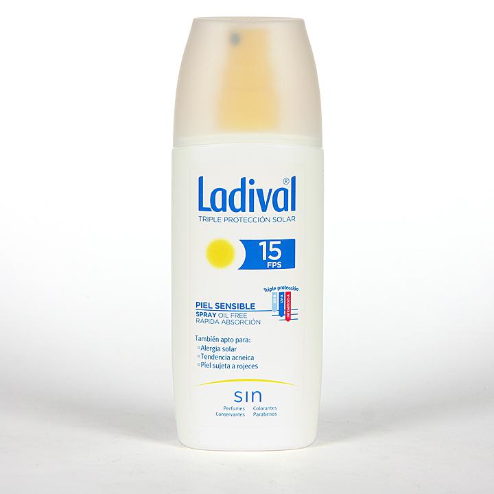 Farmacia Jiménez | Ladival Spray Pieles sensibles o alérgicas SPF 15 150 ml
