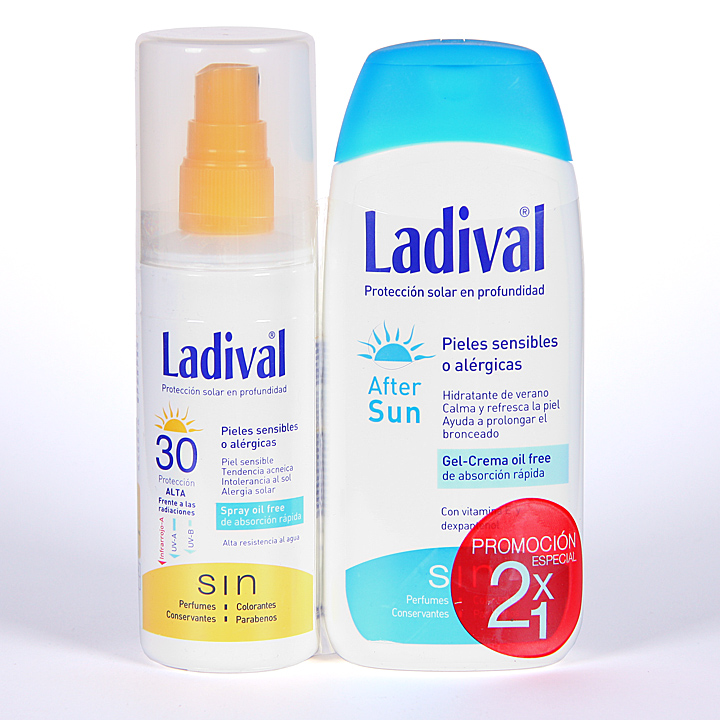 Farmacia Jiménez | Ladival Spray Pieles sensibles o alérgicas SPF 30 150 ml