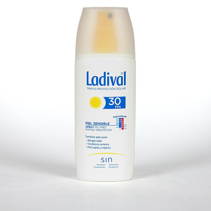 Farmacia Jiménez | Ladival Spray Pieles sensibles o alérgicas SPF 30 150 ml