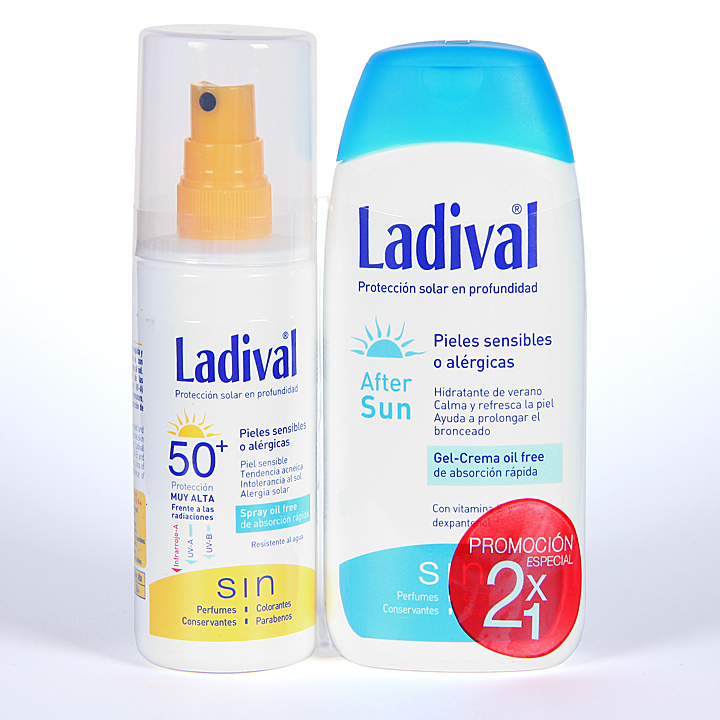 Farmacia Jiménez | Ladival Spray Pieles sensibles o alérgicas SPF 50+ 150 ml