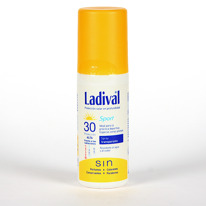Farmacia Jiménez | Ladival Sport Spray Transparente SPF 30 150 ml