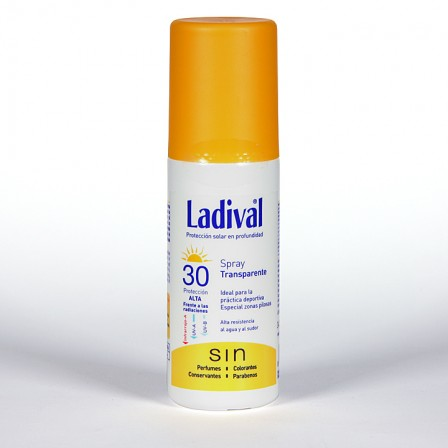 Farmacia Jiménez | Ladival Spray Transparente SPF 30 150 ml