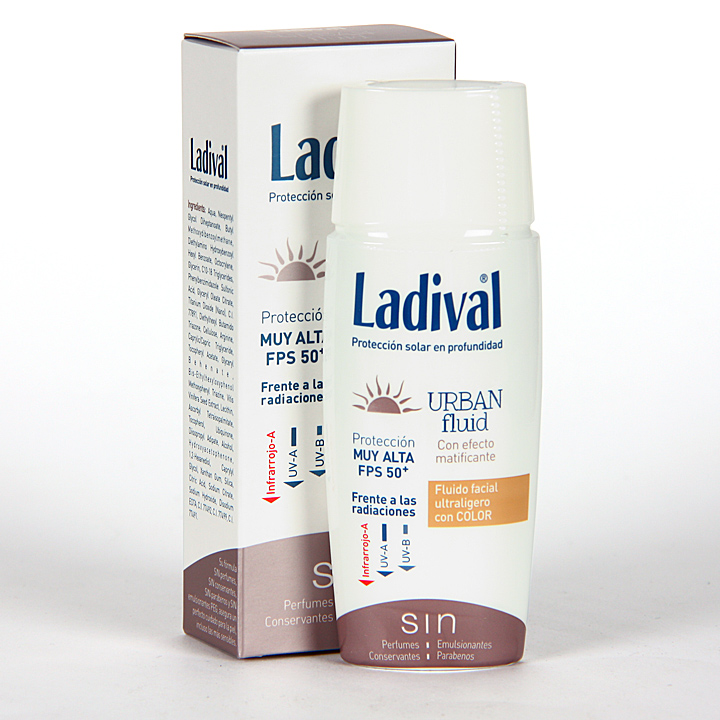 Farmacia Jiménez | Ladival Urban Fluid Color SPF50+ 50 ml