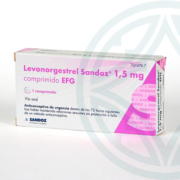 Farmacia Jiménez   Levonorgestrel Sandoz  EFG 1.5 mg 1 comprimido