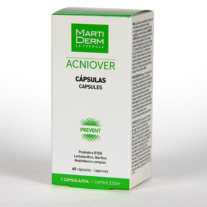 Farmacia Jiménez | Martiderm Acniover 60 Cápsulas