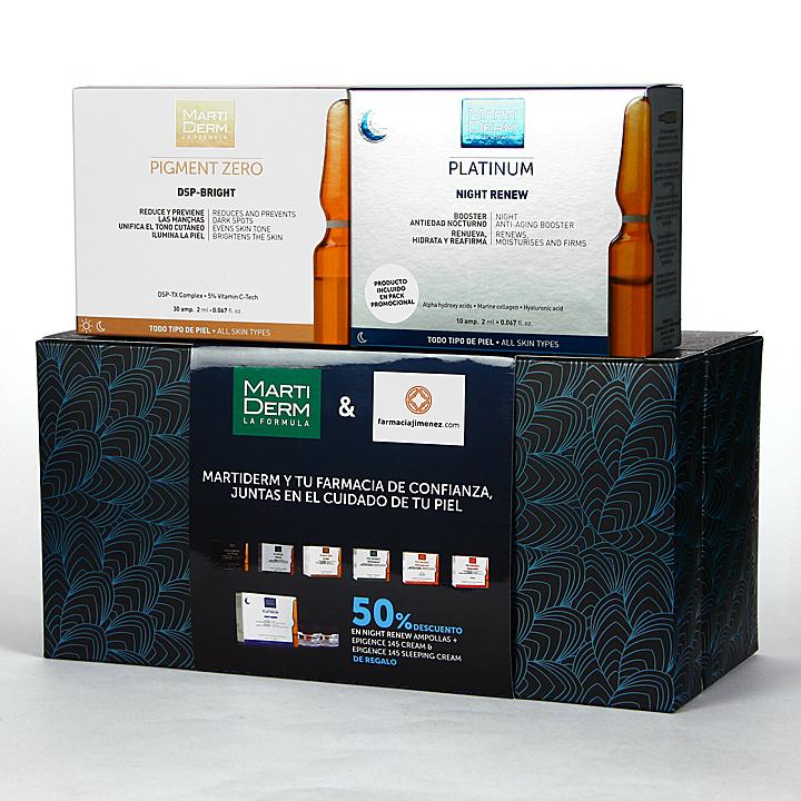 Farmacia Jiménez | Martiderm DSP-Bright 30 Ampollas + Night Renew 10 Ampollas 50% Pack