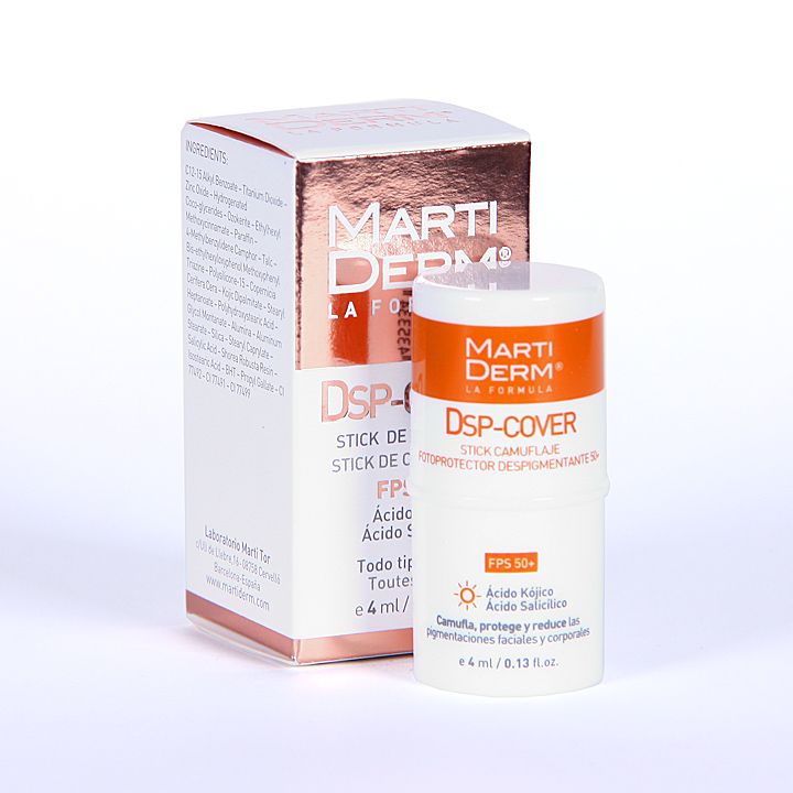 Farmacia Jiménez | Martiderm DSP-Cover Stick FPS 50+ 4 ml